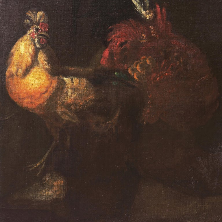 'Cock Fight', 17th Century French School For Sale 3