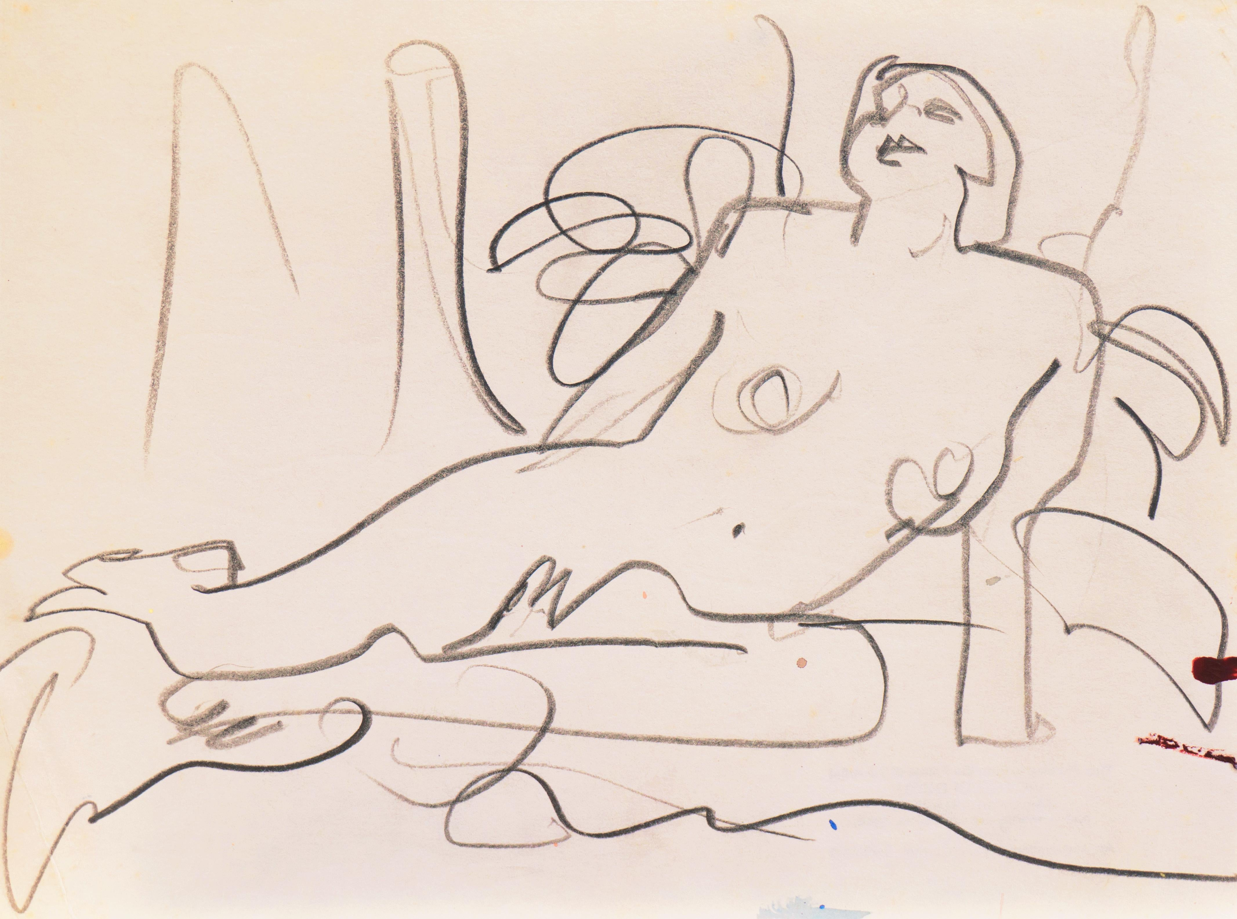 'Reclining Nude' California Post-Impressionist, Louvre, Paris, Carmel LACMA SFAA