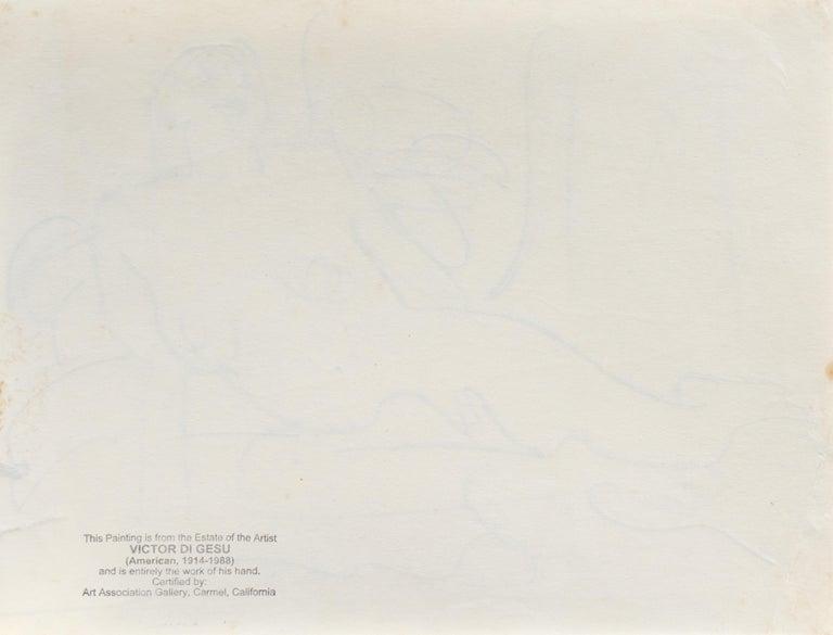 'Reclining Nude' California Post-Impressionist, Louvre, Paris, Carmel LACMA SFAA For Sale 5