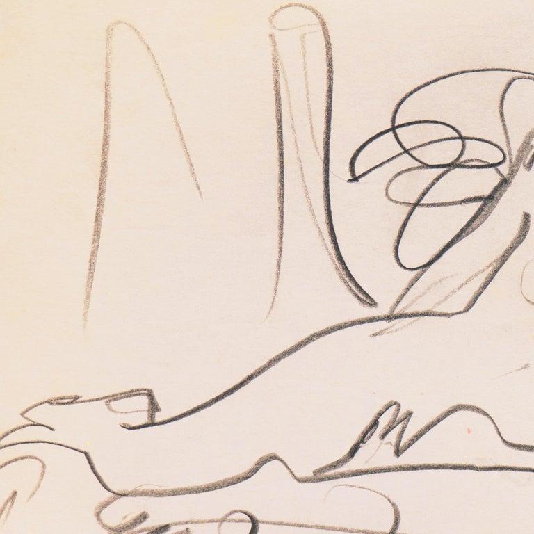 'Reclining Nude' California Post-Impressionist, Louvre, Paris, Carmel LACMA SFAA For Sale 2
