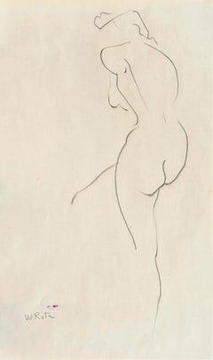 'Standing Nude', Line Drawing, Matisse, San Francisco, Santa Cruz