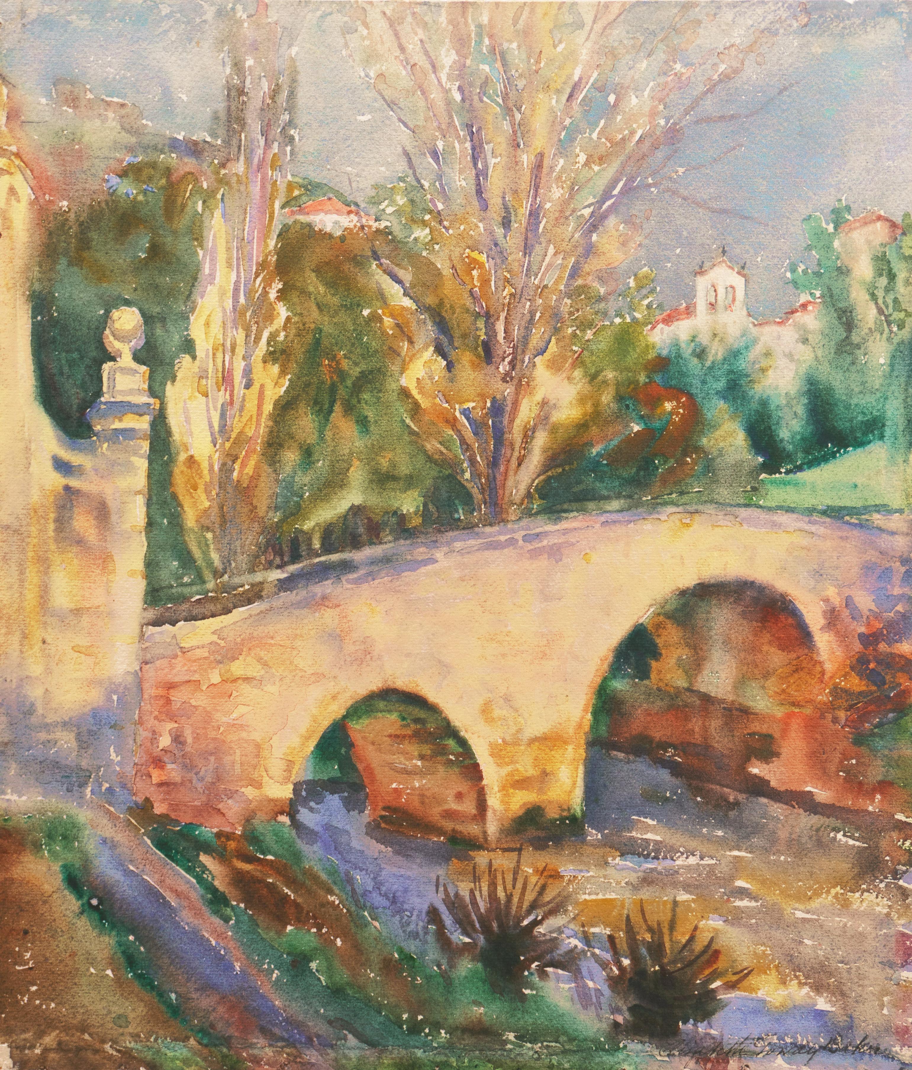 'Spanish Bridge, Segovia', Woman Artist, Paris Salon, Cooper Union, ASL, PAFA