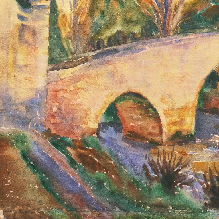 'Bridge in Segovia', Woman Artist, Paris Salon, Cooper Union, ASL, PAFA, AWS,   For Sale 2