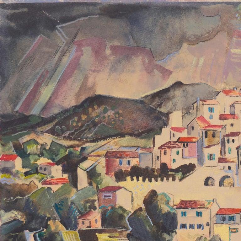 'After the Storm', Carmel, California, Paris, Academie Julian, New York, AIC - Art Deco Art by Herbert Lewis