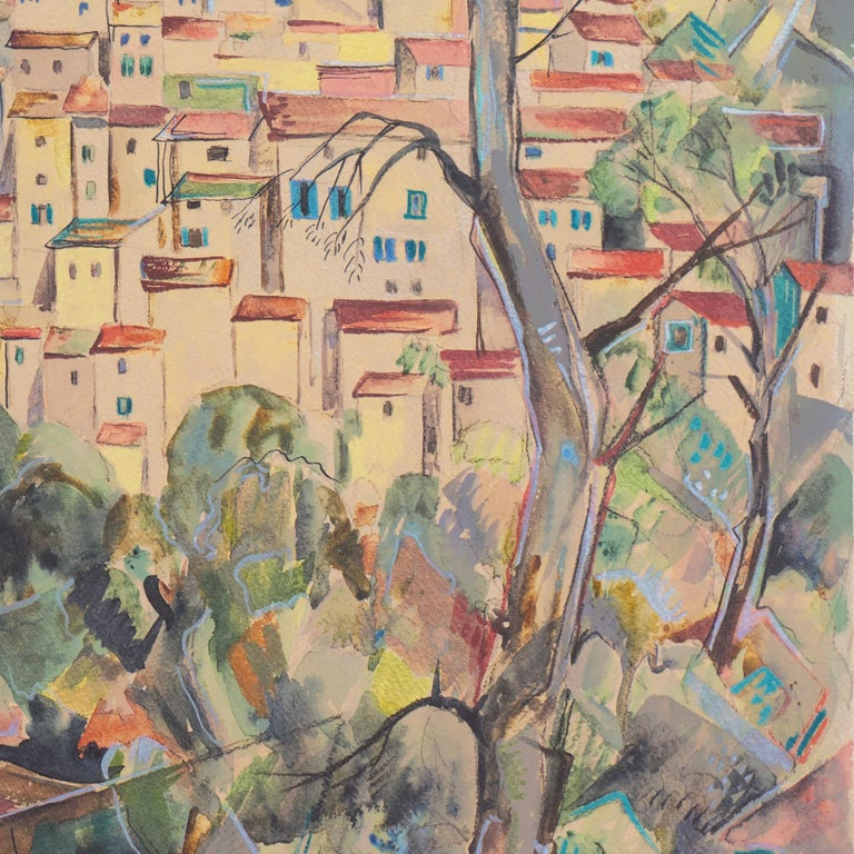 Signed lower right, 'Herbert Lewis' (American, 1893-1962) and inscribed 'Caques 1928 and Tucson 1950'.   Born in Chicago, Illinois, Herbert Taylor Lewis was known as a painter of  abstracts, still lives and figure studies painted with a vivid