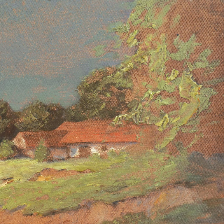 'Hungarian Landscape with Farmhouse', Munich School, National Academy, Budapest For Sale 2