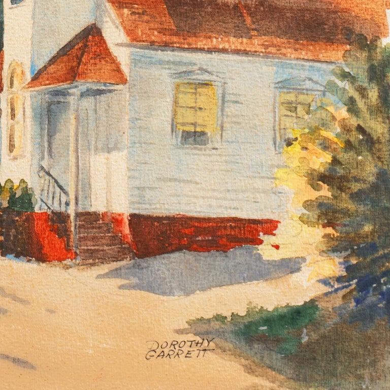 Signed lower right, 'Dorothy Garrett' (English, 1908-2000) and painted circa 1955; additionally inscribed verso, 'Griffith'.  Born Dorothy Mabel Ellen Herring, Dorothy Garrett studied at the Ipswich School of Art under George Rushton [q.v.]. Garrett