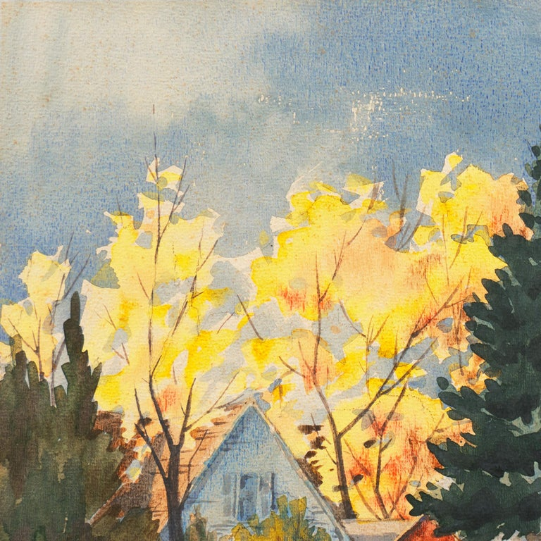'Fall Landscape', Suffolk Woman Artist, London, Paris, Norfolk Art Circle For Sale 1
