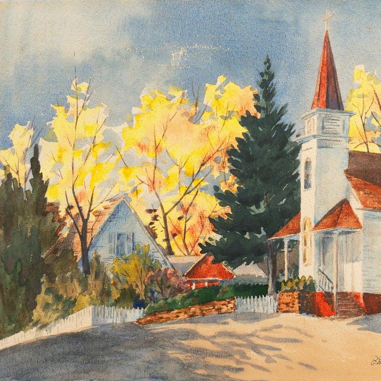 'Fall Landscape', Suffolk Woman Artist, London, Paris, Norfolk Art Circle For Sale 2