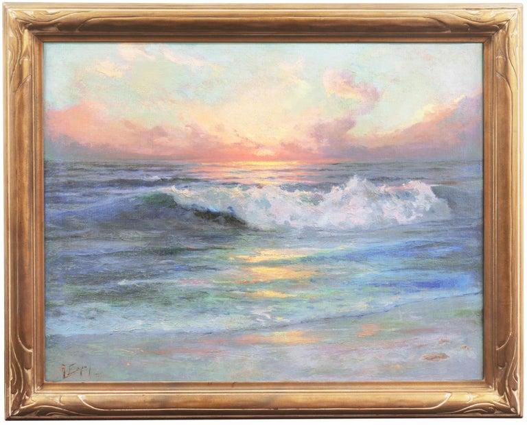 'Seascape' Los Angeles Art Association, Oakland Museum, Joaquin Sorolla, Benezit - Painting by Angel Espoy
