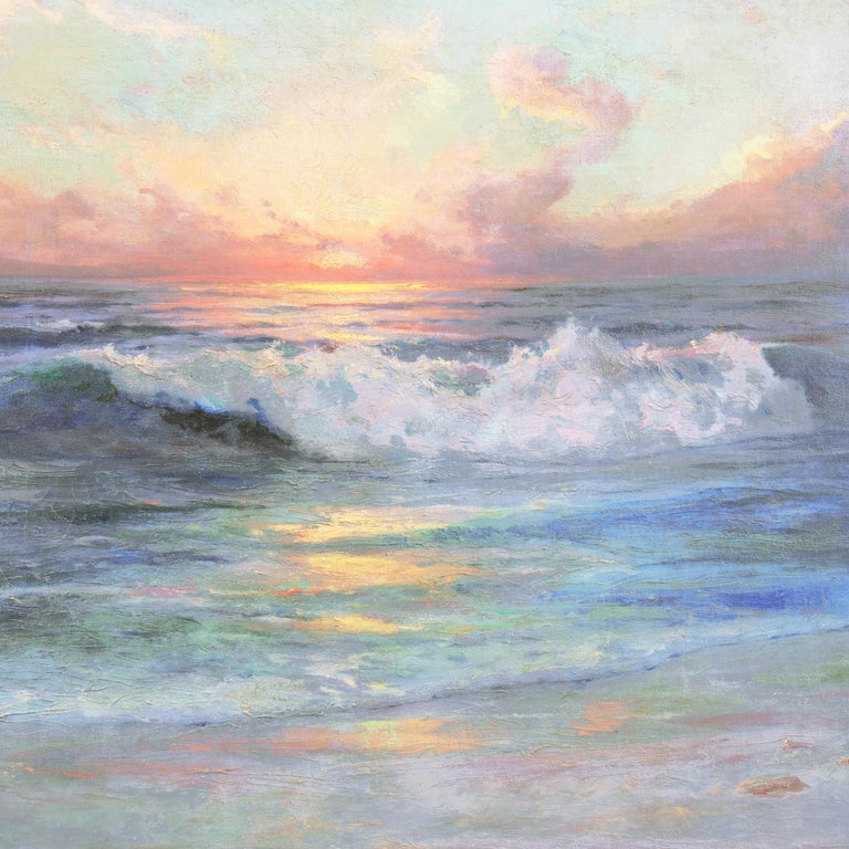 'Seascape' Los Angeles Art Association, Oakland Museum, Joaquin Sorolla, Benezit For Sale 1