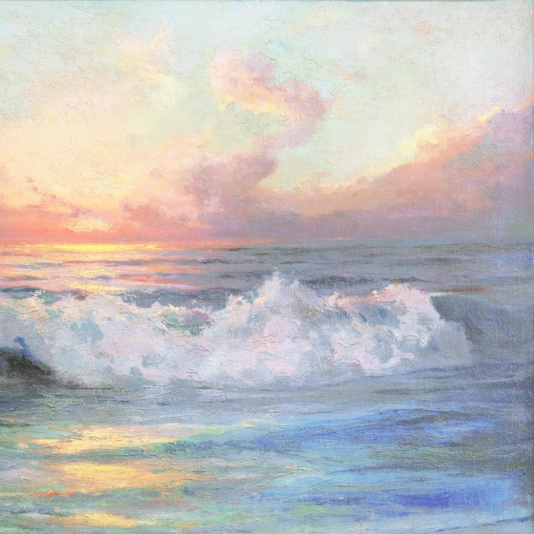 'Seascape' Los Angeles Art Association, Oakland Museum, Joaquin Sorolla, Benezit For Sale 4