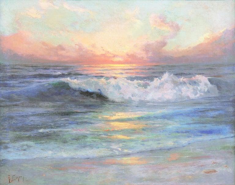 Angel Espoy Landscape Painting - 'Seascape' Los Angeles Art Association, Oakland Museum, Joaquin Sorolla, Benezit