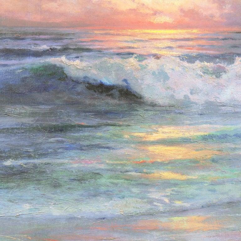 'Seascape' Los Angeles Art Association, Oakland Museum, Joaquin Sorolla, Benezit For Sale 2