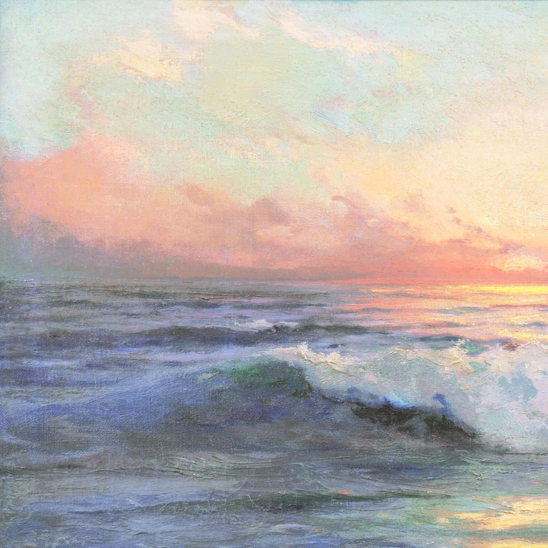 'Seascape' Los Angeles Art Association, Oakland Museum, Joaquin Sorolla, Benezit For Sale 3