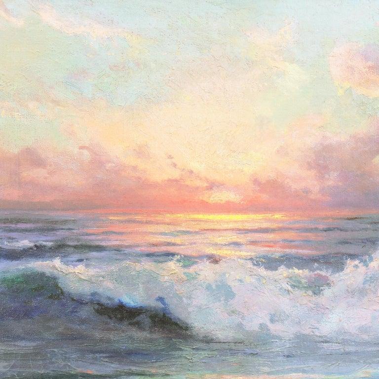 'Seascape' Los Angeles Art Association, Oakland Museum, Joaquin Sorolla, Benezit For Sale 5
