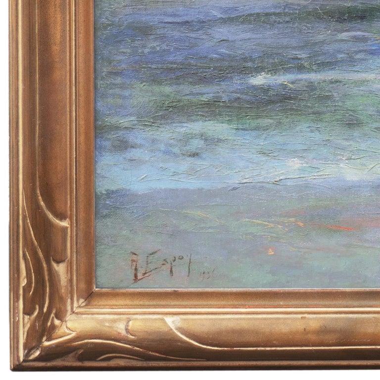 'Seascape' Los Angeles Art Association, Oakland Museum, Joaquin Sorolla, Benezit - American Impressionist Painting by Angel Espoy