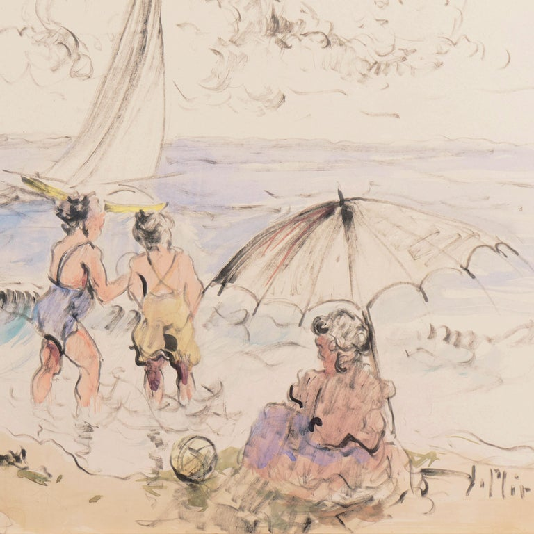 'Bathers at the Beach', Spanish Post-Impressionist, Catalan Artist, Screenwriter For Sale 2
