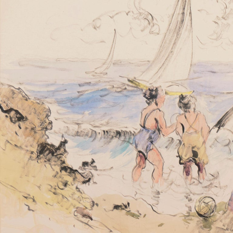 'Bathers at the Beach', Spanish Post-Impressionist, Catalan Artist, Screenwriter For Sale 4