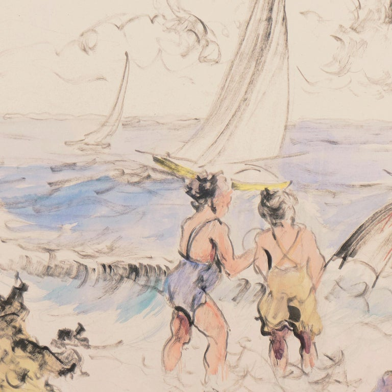 'Bathers at the Beach', Spanish Post-Impressionist, Catalan Artist, Screenwriter For Sale 3