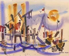 'Fishermen at Monterey Wharf'