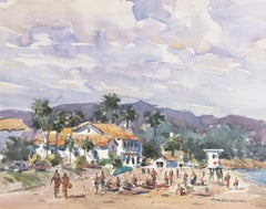 'Summer Clouds, East Beach', Santa Barbara Coastal Landscape, Instituto Allende