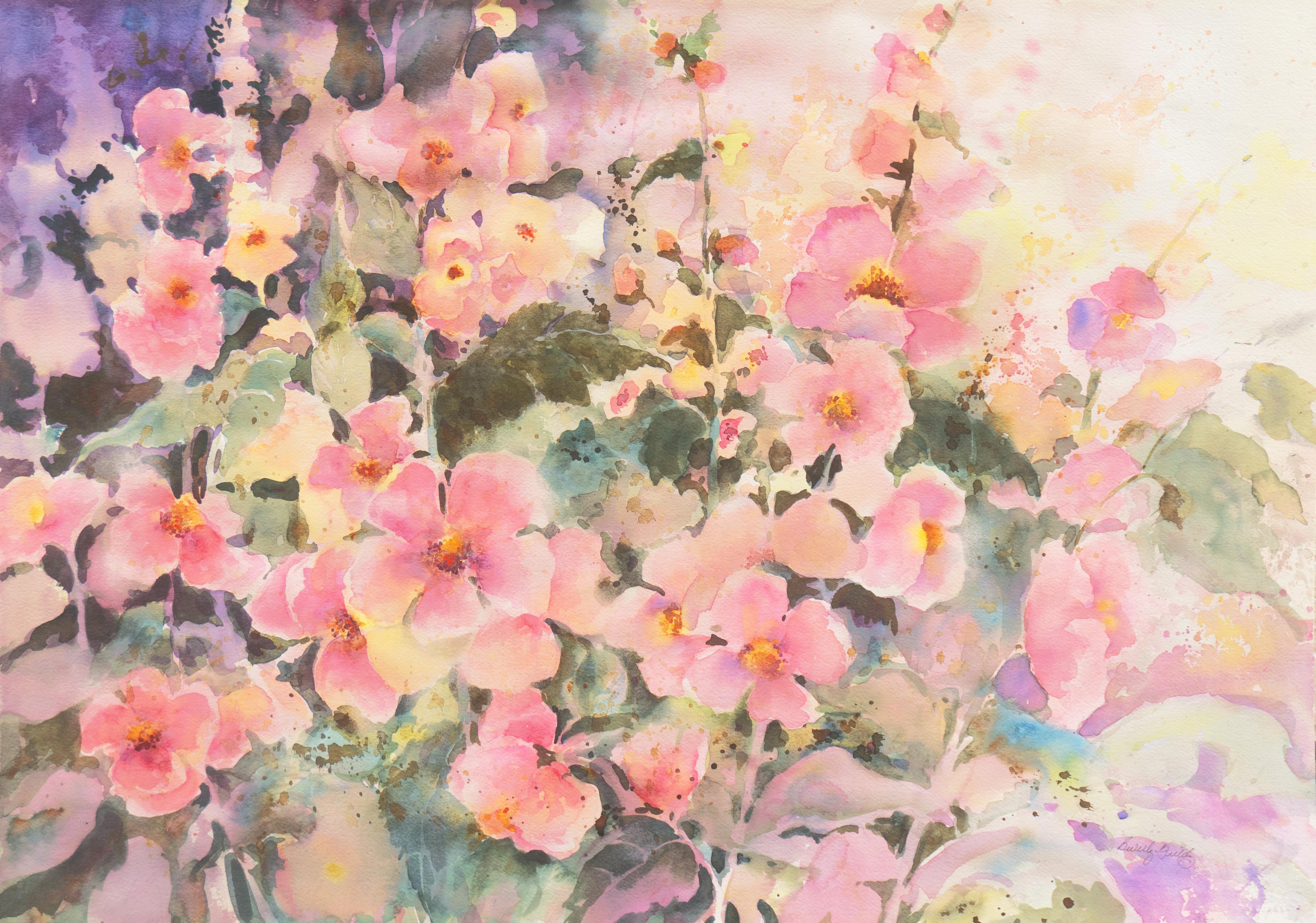 'Pink Daisies', California Watercolor Society, SWA, Woman Artist, Zoltan Szabo