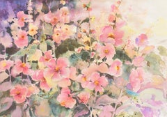 'Pink Daisies', California Watercolor Society, SWA, Woman Artist, Zoltan Szabo
