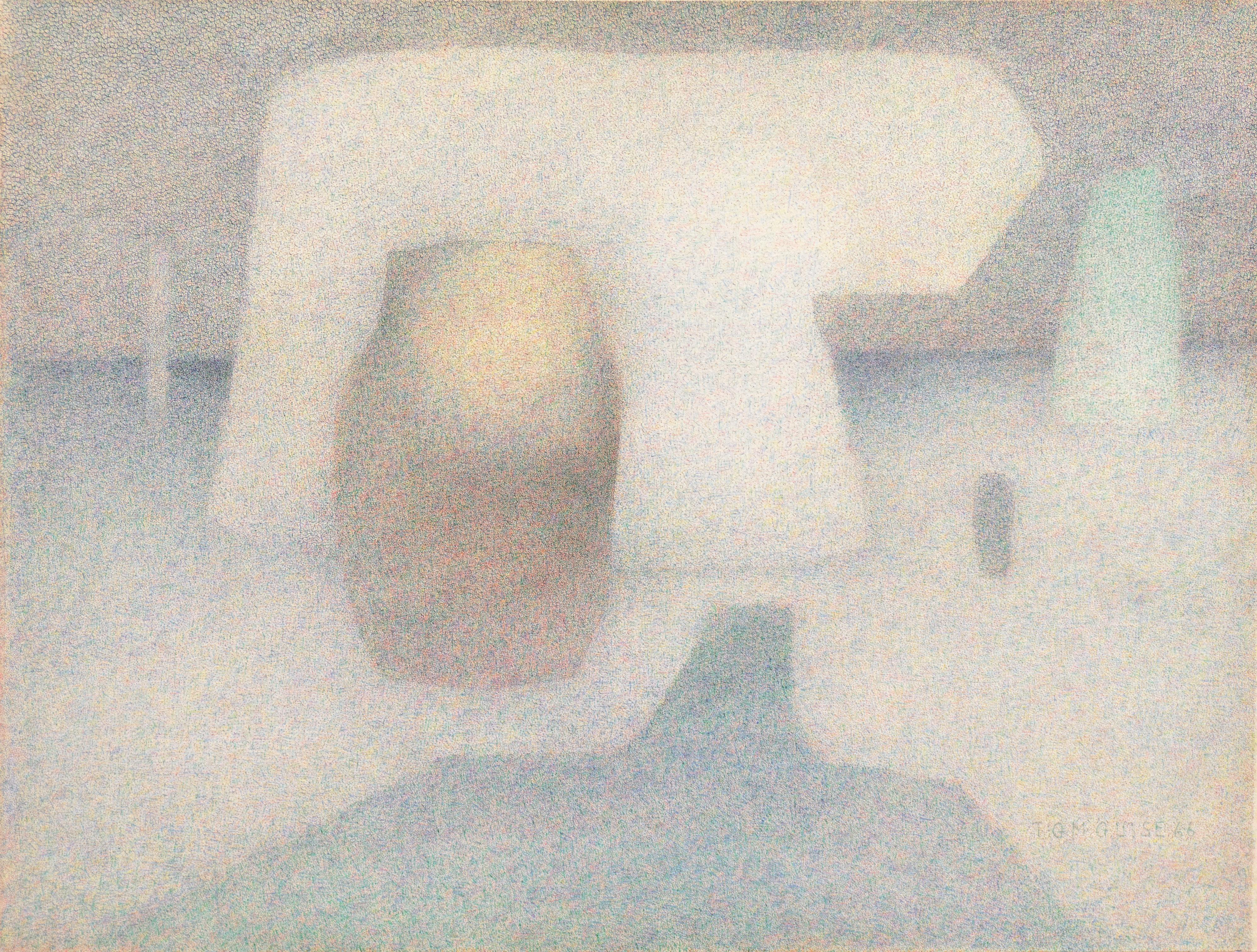 'Pointillist Still Life', Royal Society of Artists, Edinburgh Academy, Palo Alto