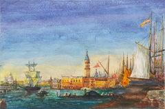 Venice, Bacino di San Marco', Venetian Vedute, St. Mark's Place, Santa Maria