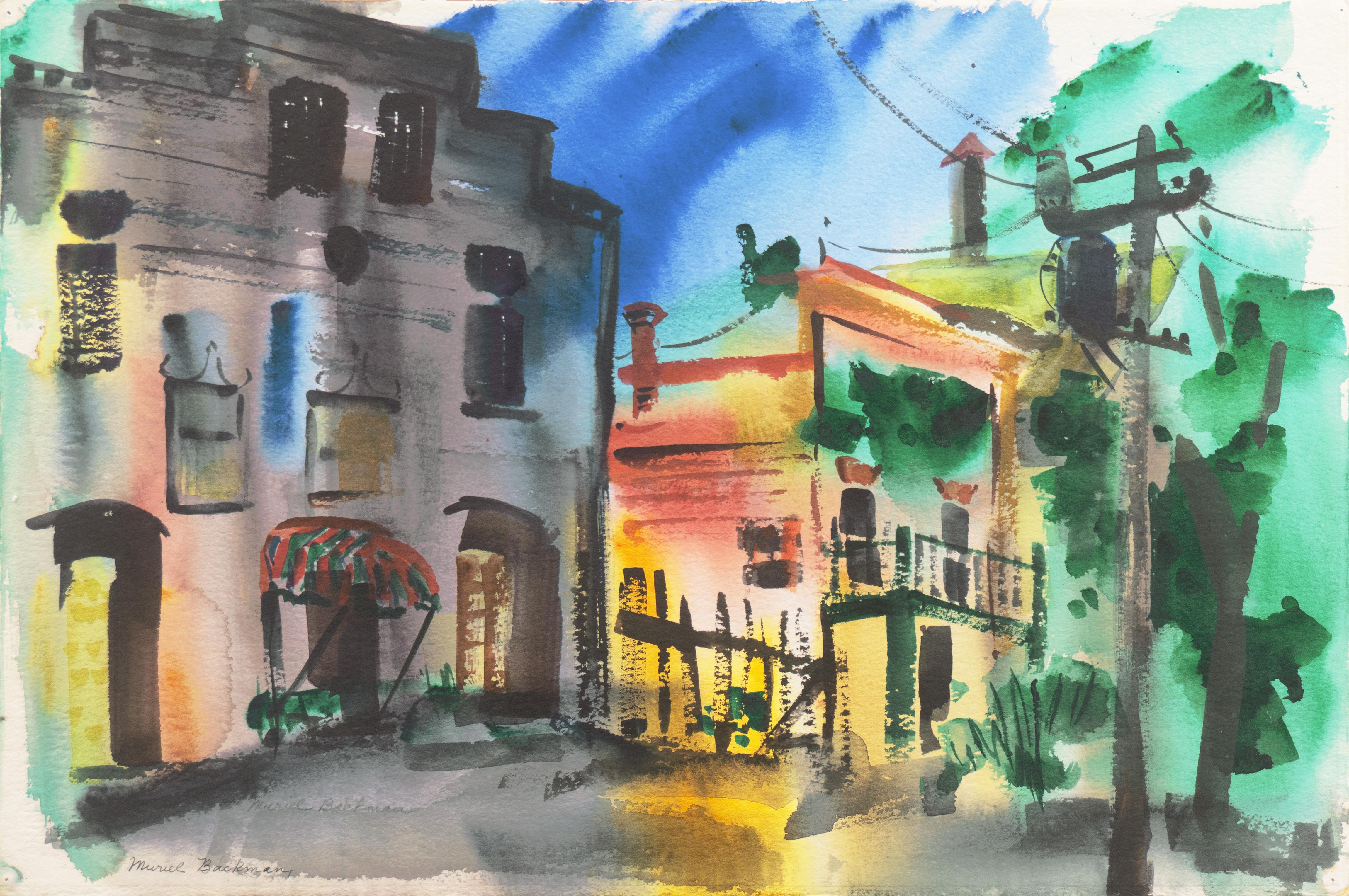 'Main Street, Port Costa', California Woman Post Impressionist, Crocker Museum,