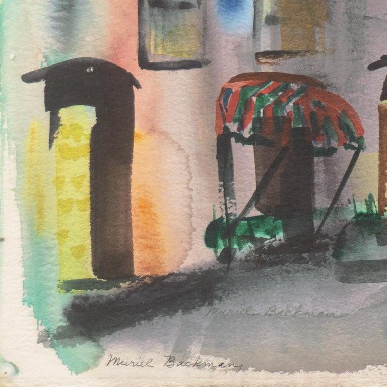 'Main Street, Port Costa', California Woman Post Impressionist, Crocker Museum, - Art by Muriel Backman