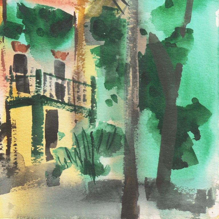 'Main Street, Port Costa', California Woman Post Impressionist, Crocker Museum, For Sale 1