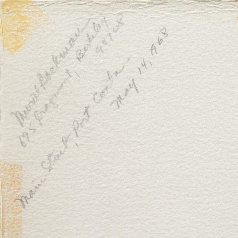 'Main Street, Port Costa', California Woman Post Impressionist, Crocker Museum, For Sale 2
