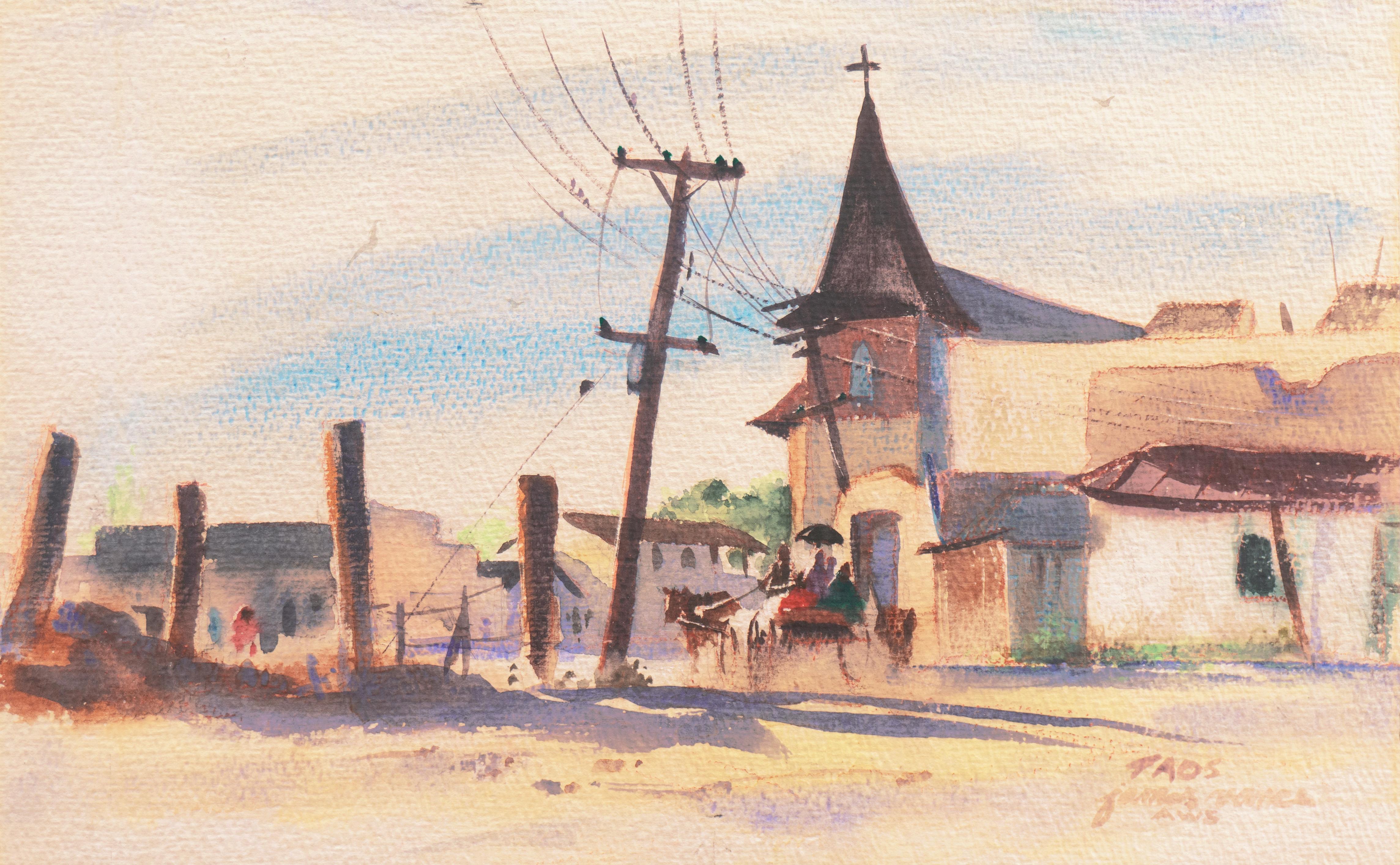 'Taos', American Watercolor Society, Chouinard, New York, Art Student's League