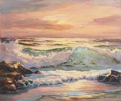 'Evening Waves', Pacific Coastal Seascape