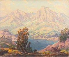 'High Sierras, California', Plein Air Impressionist Lake Oil, AIC, San Francisco
