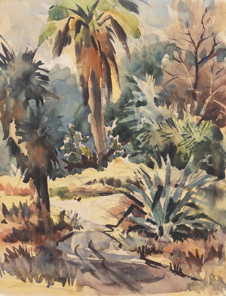 Ralph Ledesma Landscape Art - 'Impressionist Landscape with Agave', Sequoia Art Group, California Plein Air