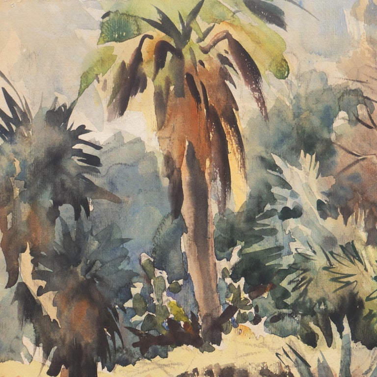 'Impressionist Landscape with Agave', Sequoia Art Group, California Plein Air For Sale 1
