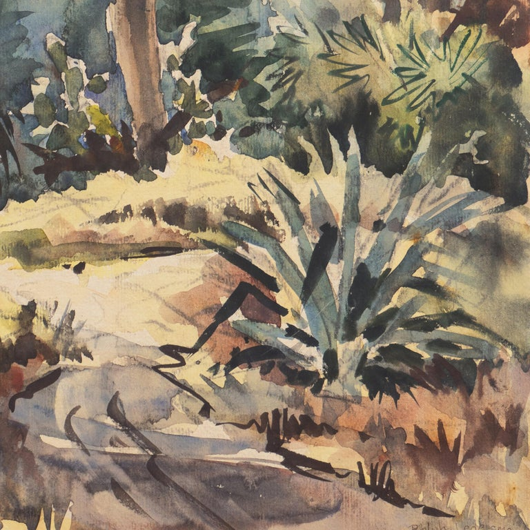 'Impressionist Landscape with Agave', Sequoia Art Group, California Plein Air For Sale 3