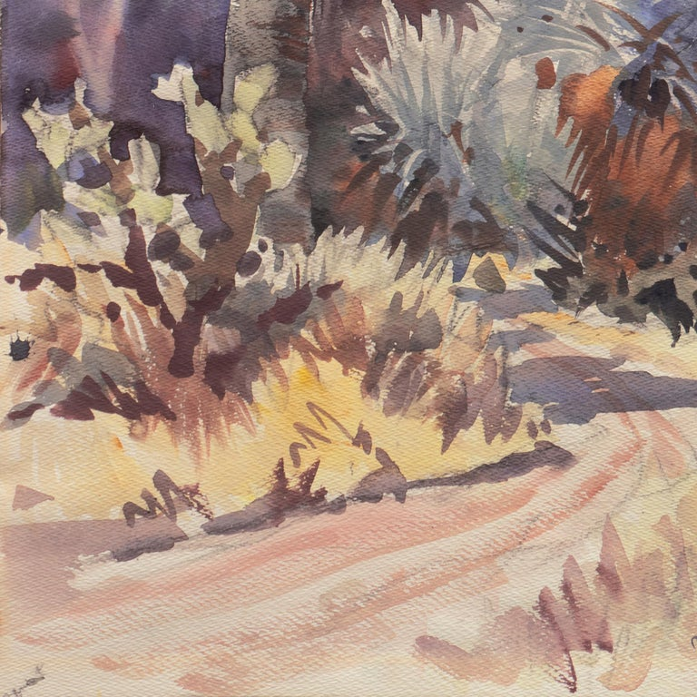 'Southern California Landscape with Palm Trees', Sequoia Art Group, Redwood City For Sale 3