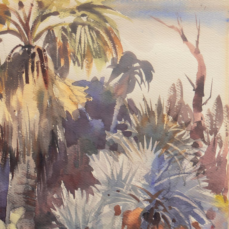'Southern California Landscape with Palm Trees', Sequoia Art Group, Redwood City For Sale 1