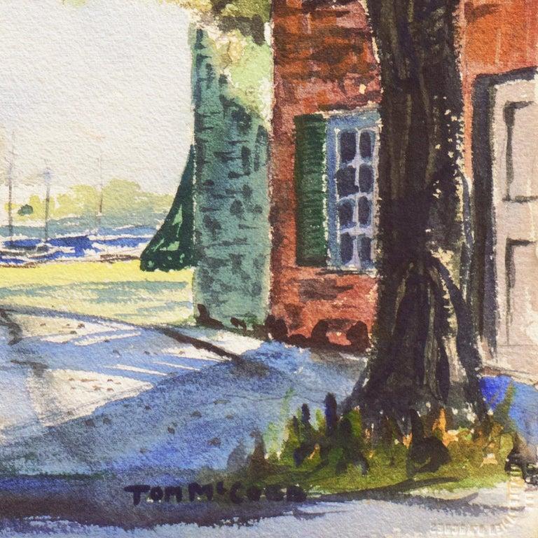 'New England Harbor', Cazenovia Watercolor Society, Connecticut, Adirondacks - Art by Thomas McCobb