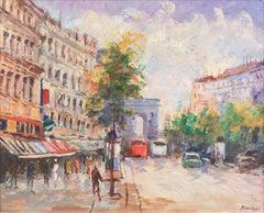 'The Arc de Triomphe from the Champs-Élysées', Paris, France, Post-Impressionist