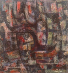 'Abstract in Charcoal and Rose', African-American Woman Artist, Oakland Museum