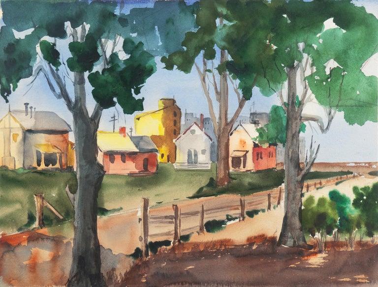 Muriel Backman Landscape Art - 'University Village, Berkeley' Carmel, California, Woman Post Impressionist