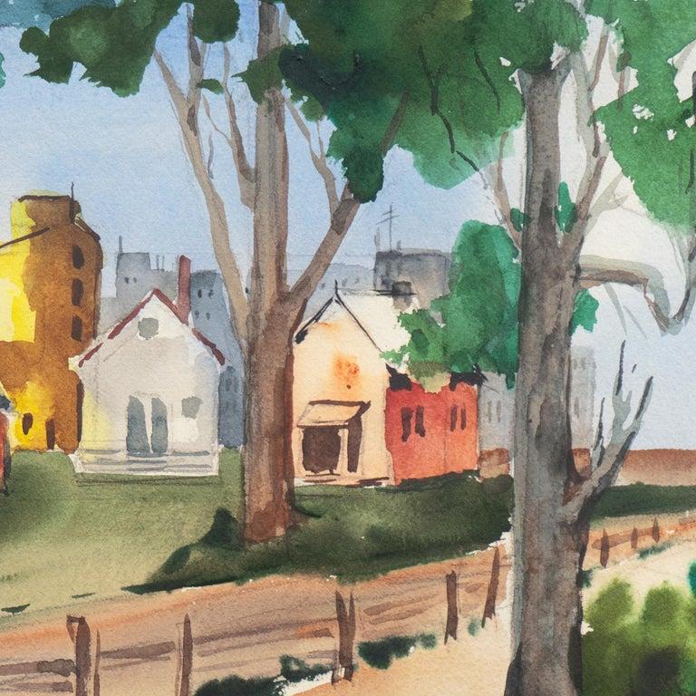 'University Village, Berkeley' Carmel, California, Woman Post Impressionist - Art by Muriel Backman
