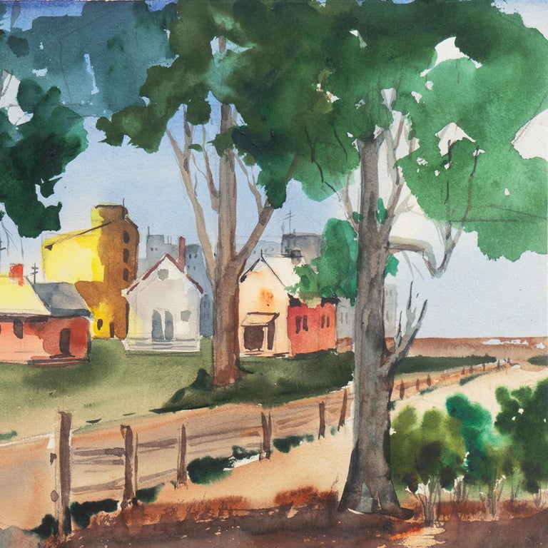 'University Village, Berkeley' Carmel, California, Woman Post Impressionist For Sale 1