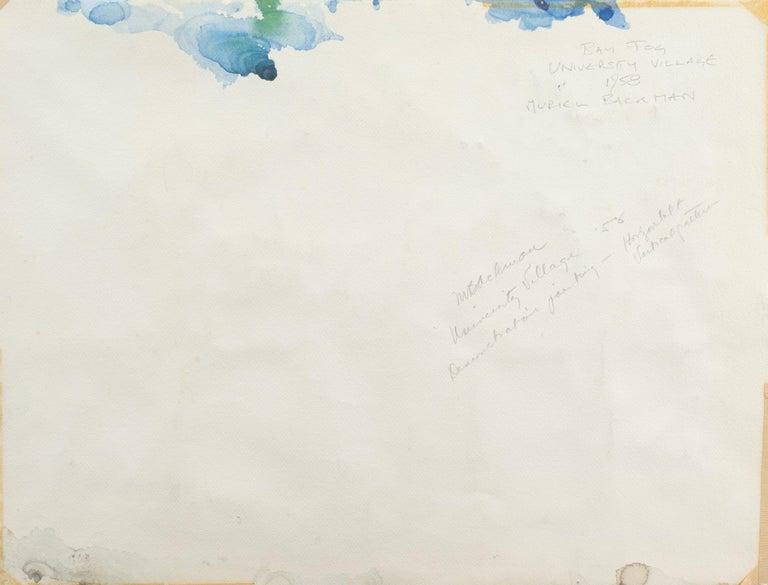 'University Village, Berkeley' Carmel, California, Woman Post Impressionist For Sale 3