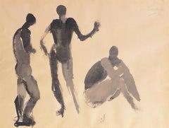 'Three Figures', Mid-century German Expressionist, Düsseldorf, Venice Biennale